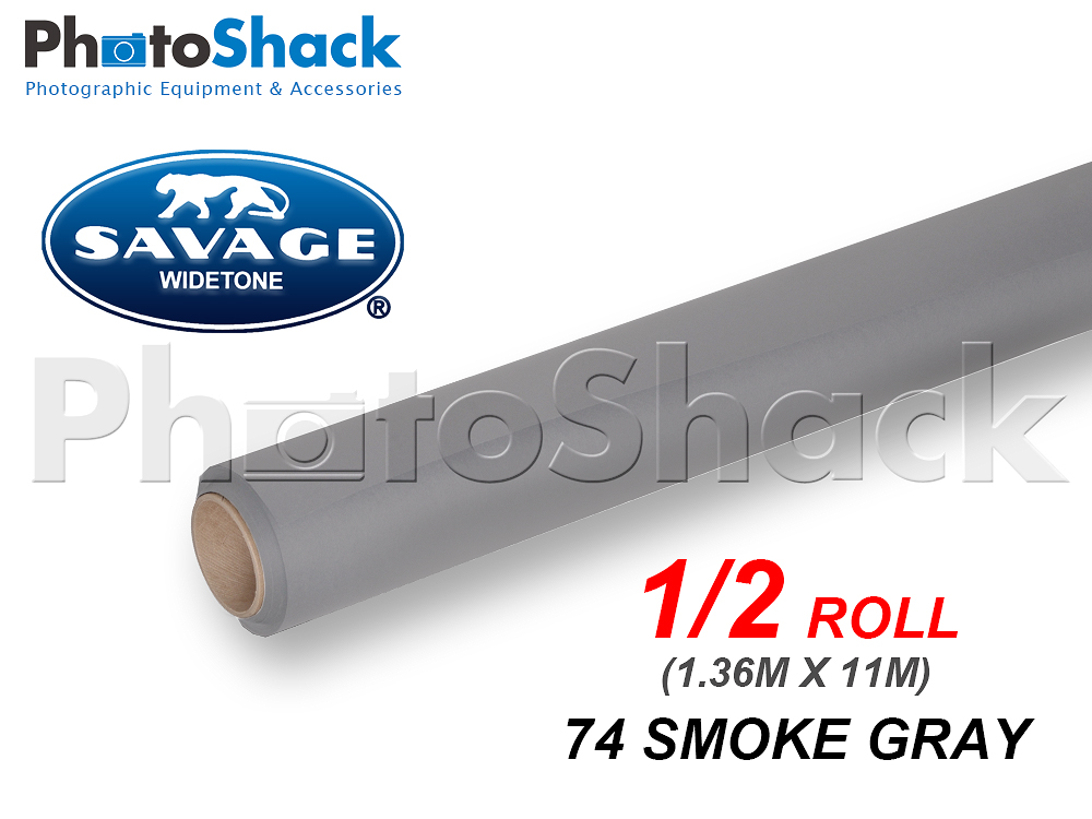 SAVAGE Paper Background Half Roll - 74 Smoke Gray