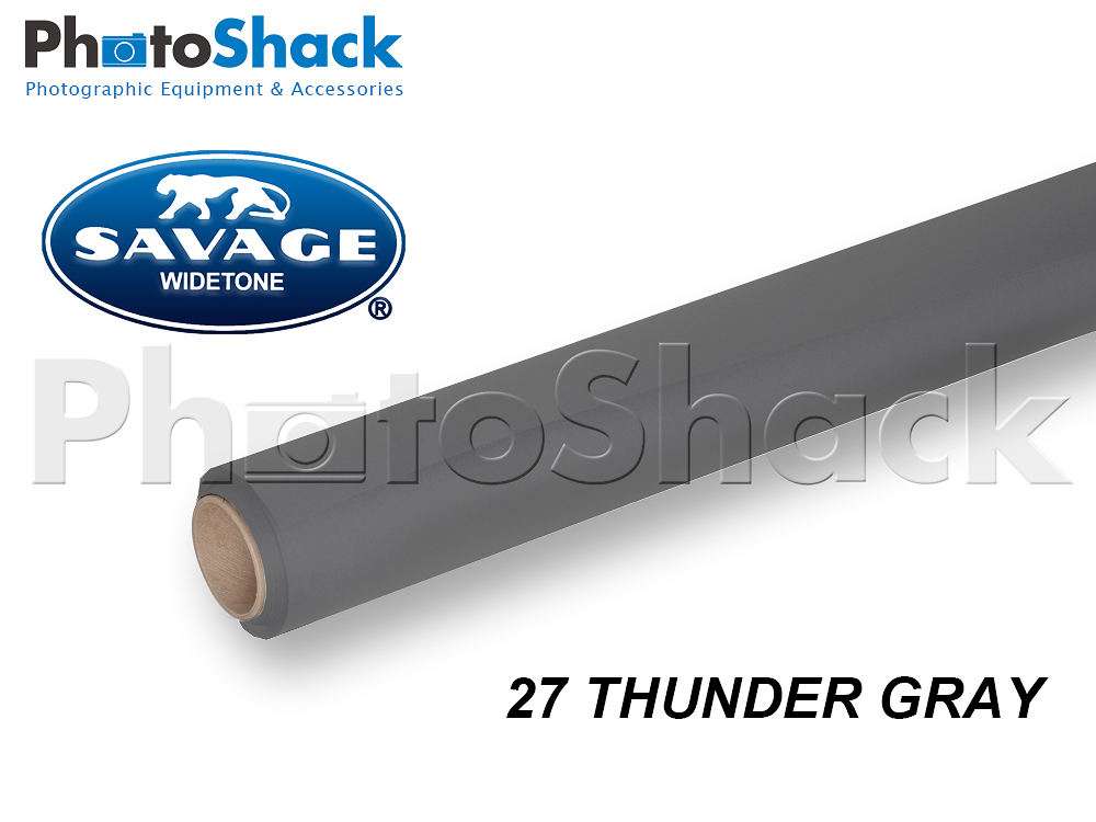 SAVAGE Paper Background Roll - 27 Thunder Gray