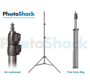 Pro Studio Light Stand 2.5m - Air Cushioned with Carry Bag