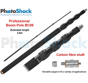 Professional Boom Pole - Telescopic Carbon Fibre BC Series (2.6m)