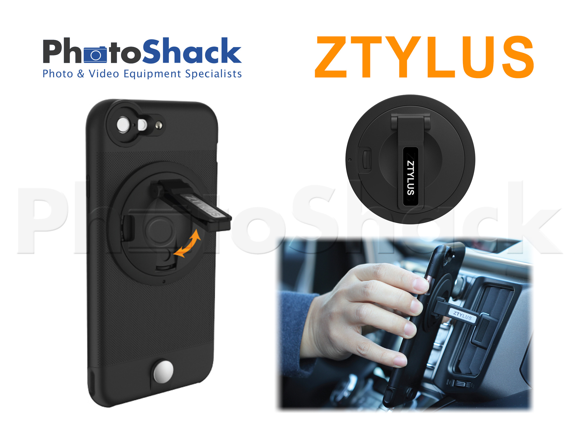 Ztylus Z-Clip Smartphone Stand Attachment for Ztylus Cases