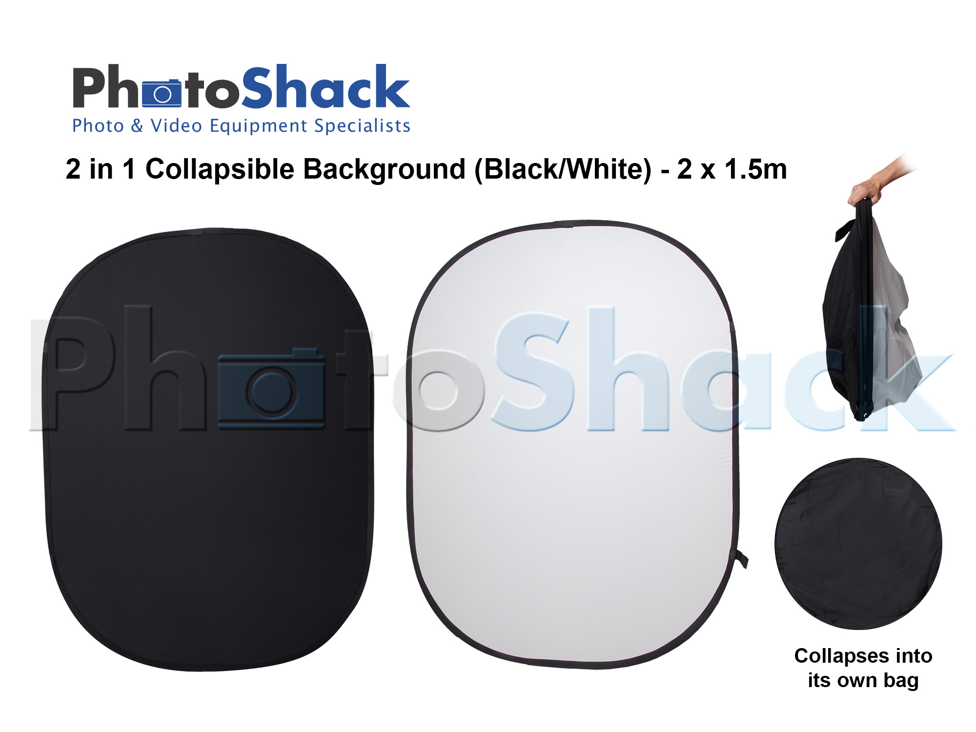 Black / White Collapsible Background & Reflector