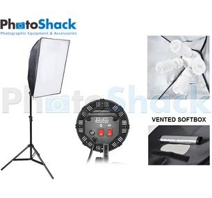 Continuous Lighting Set (3000W) with 1 Light + Vented Softbox