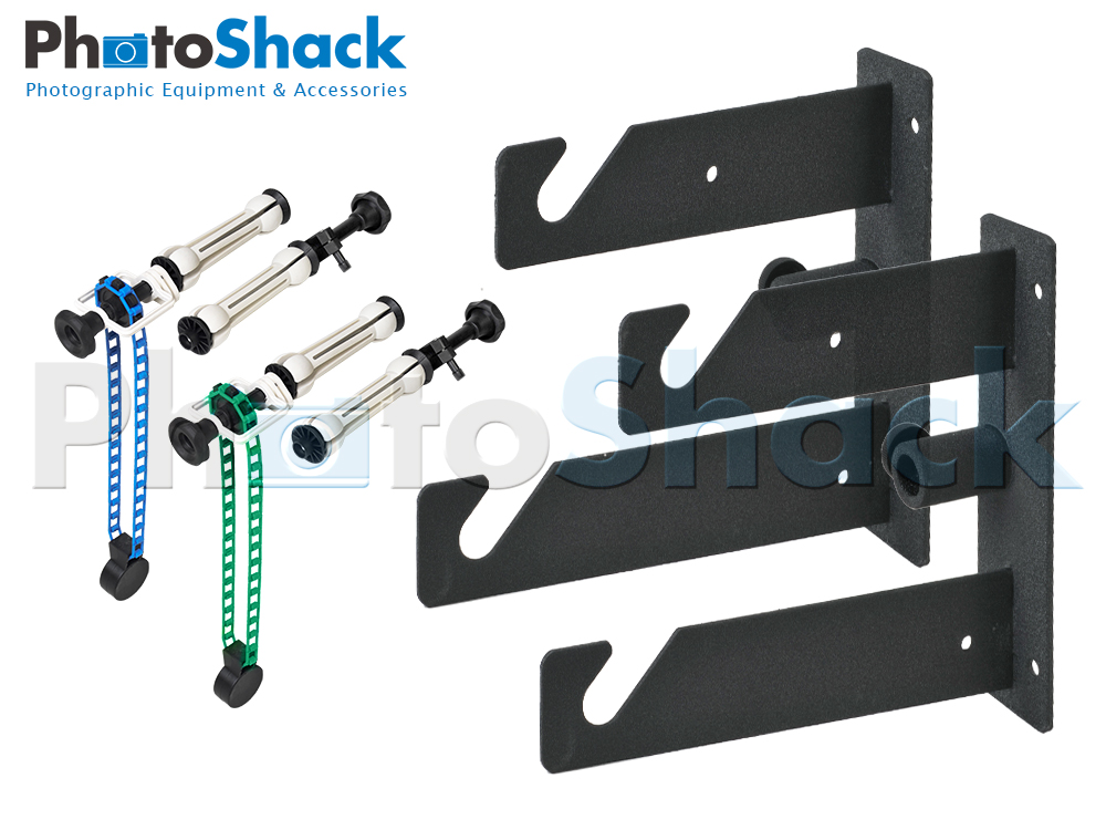 Background Roll Bracket - Double Hook Set with Roller Chains