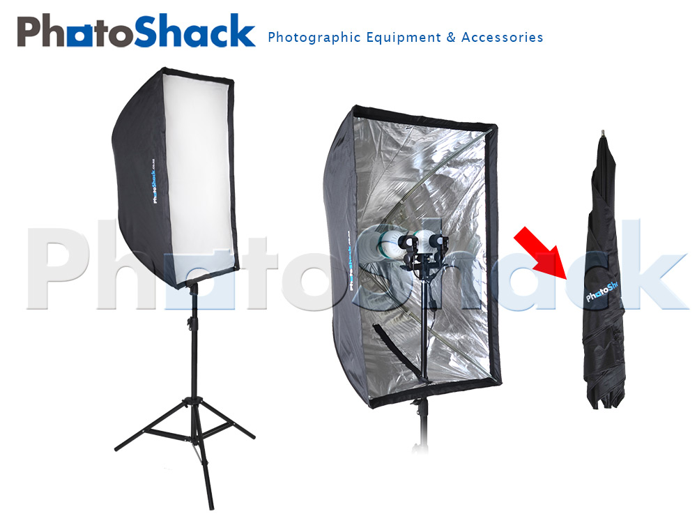 Continuous Cool Light Set (Equiv 850W) with Collapsible Softboxes