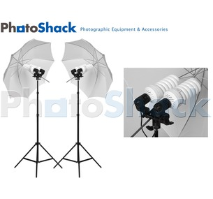 Complete Studio Cool Light Sets (3000w) with Umbrellas
