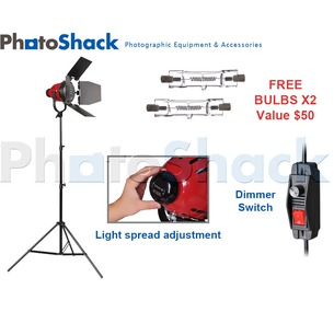 Red Head (w/ Heat Rings) Continuous (800w) 1 Light Stand Set