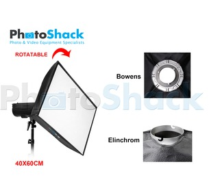 Softbox with Grid (Heat resistant) - Elinchrom Adapter