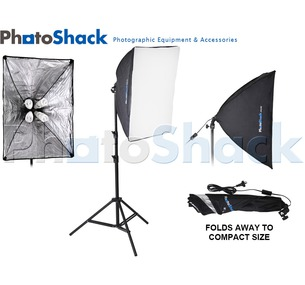 Continuous Lighting Set (700W) with Lamp Holder + Softboxes