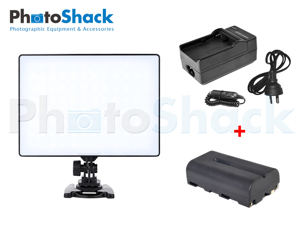 DSLR /Video LED light pad Variable Colour YN300AIR w/ Battery & Charger Set