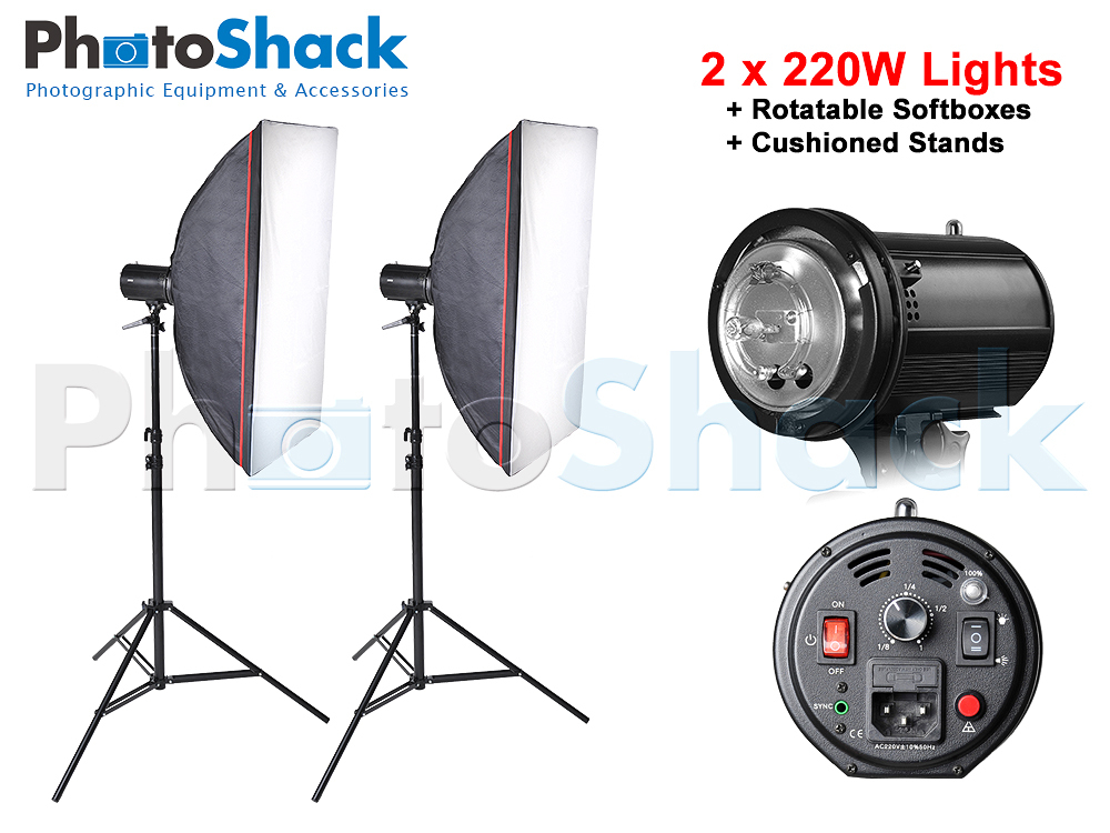 Studio Light Set - 440W (2x220wFlash)
