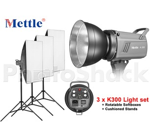 Studio Light Set - 900W (3xK300)