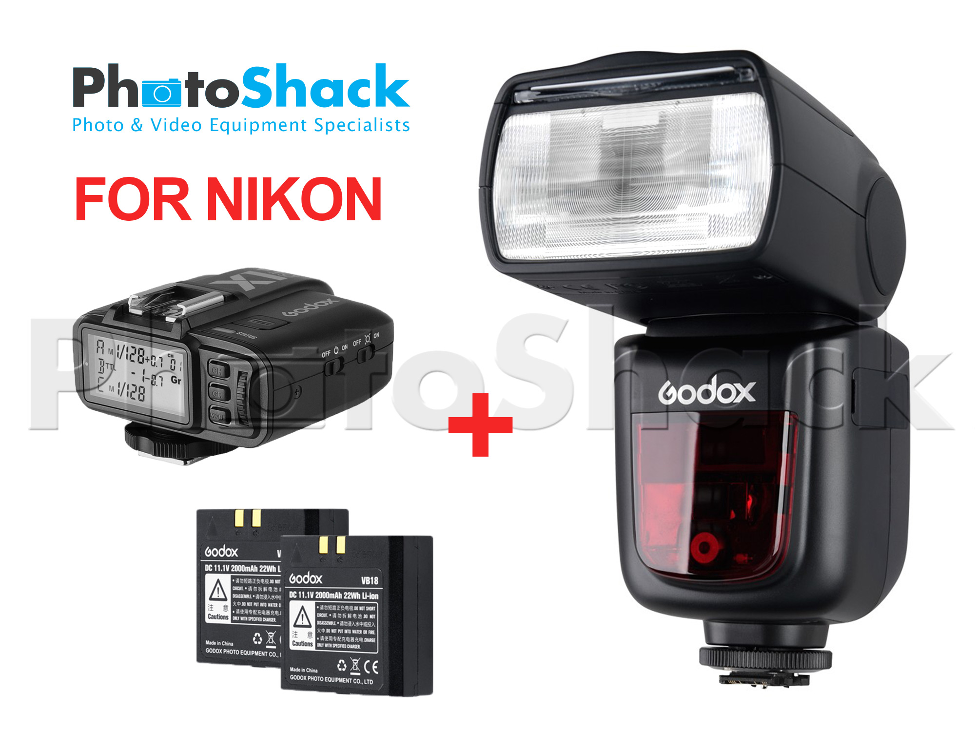 Godox V860II-N TTL Speedlight Shoot More Bundle for NIKON