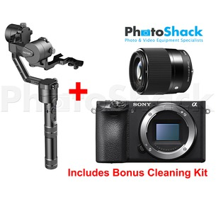 Zhiyun Crane v2 & Sony a6300 Bundle With Sigma 30mm Lens - Bonus Cleaning Kit