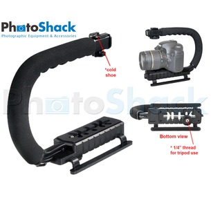 Handheld Camera Stabilizer with Hotshoe Mount