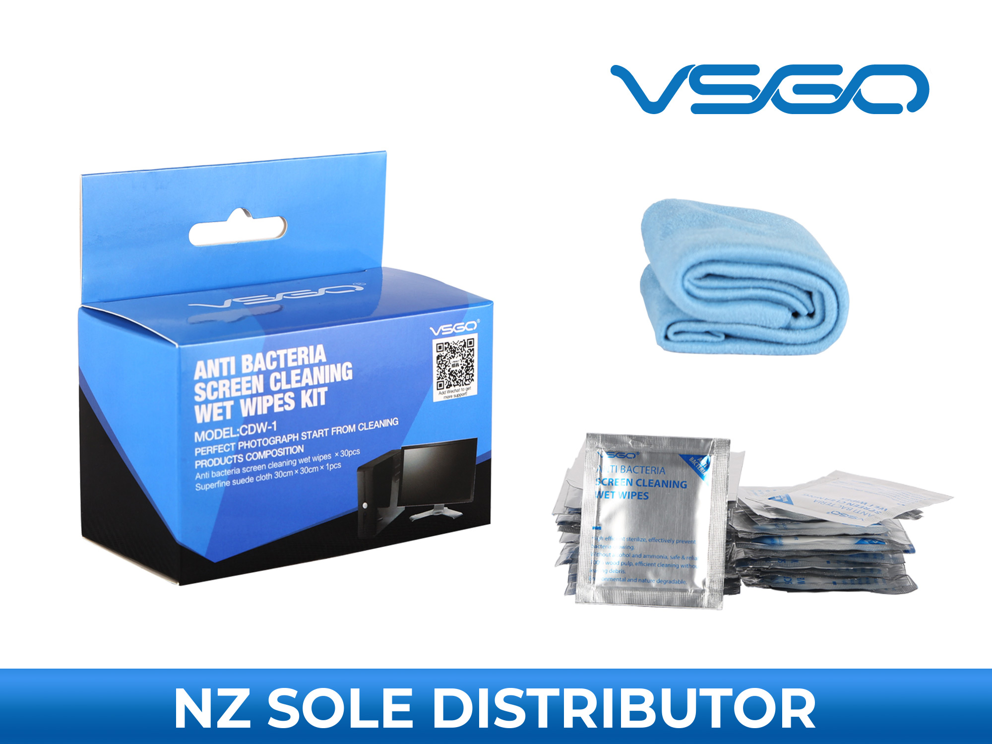 VSGO Screen Cleaning Wet Wipes Kit