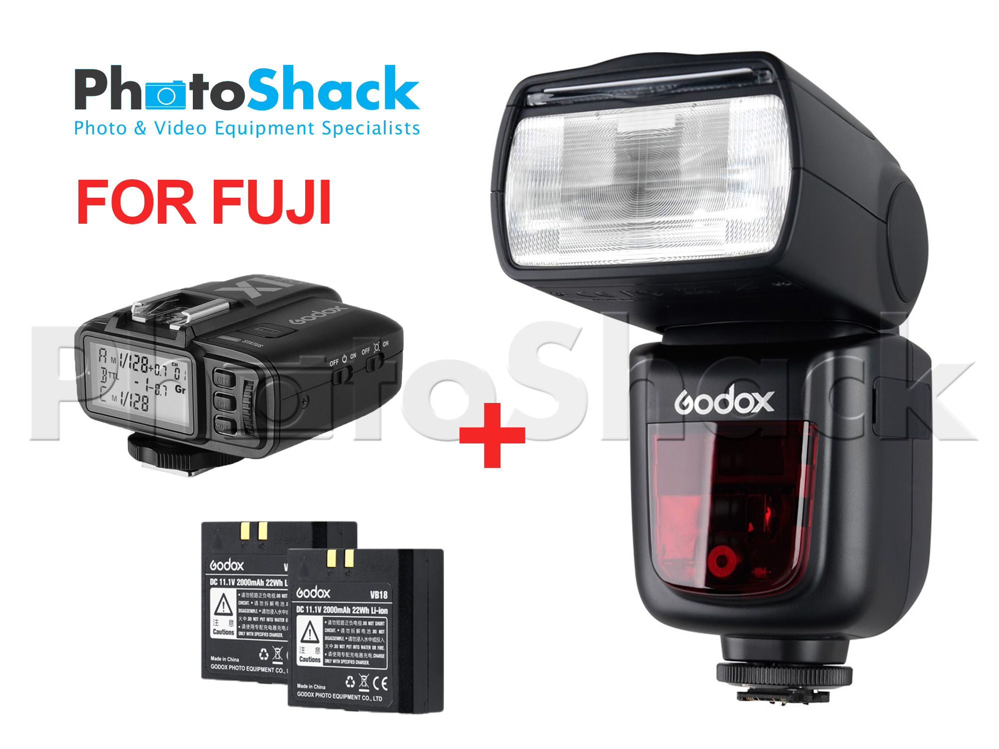 Godox V860II-F TTL Speedlight Shoot More Bundle for Fuji