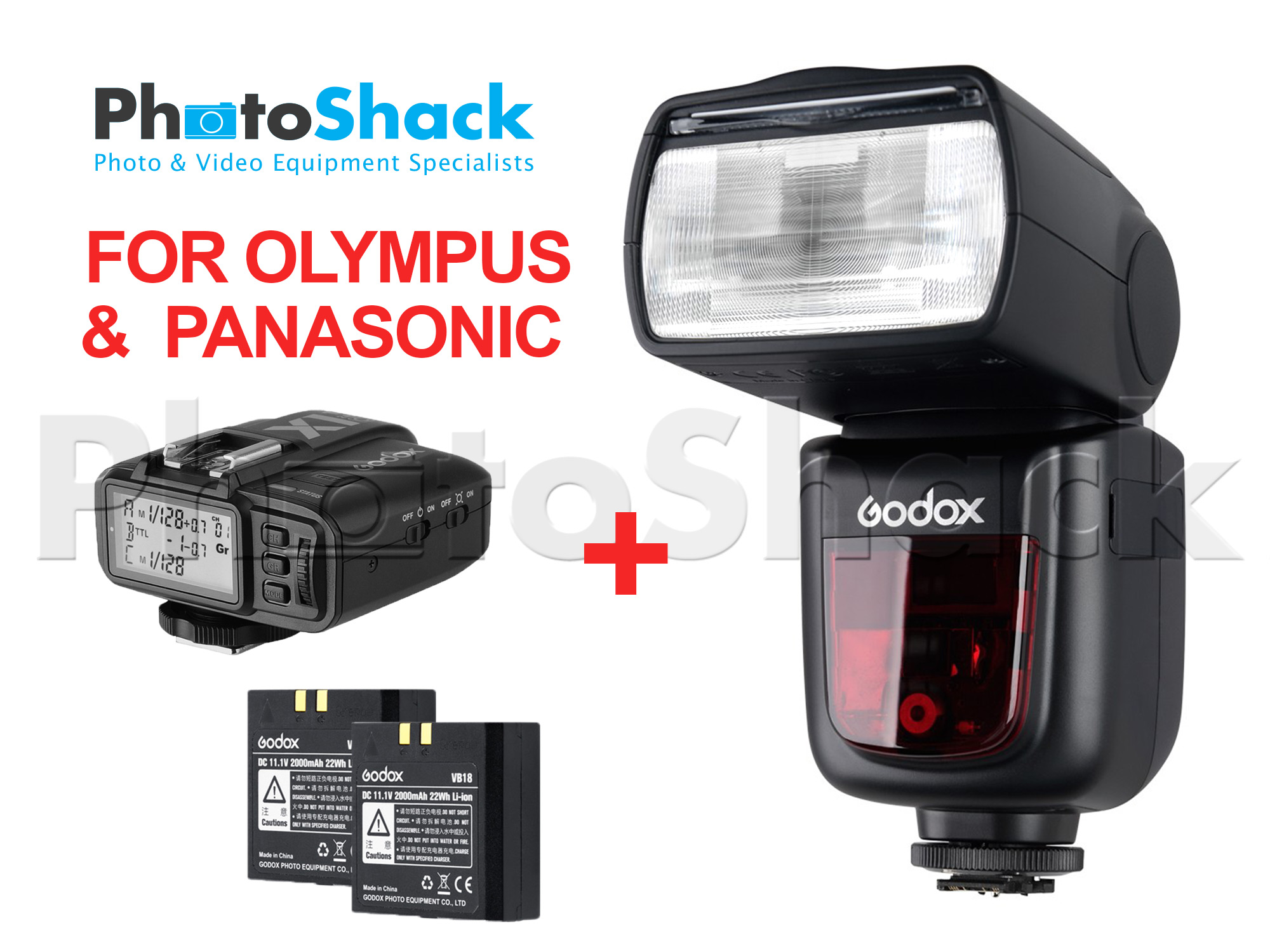 Godox V860II-P/O TTL Speedlight Shoot More Bundle for Panasonic / Olympus