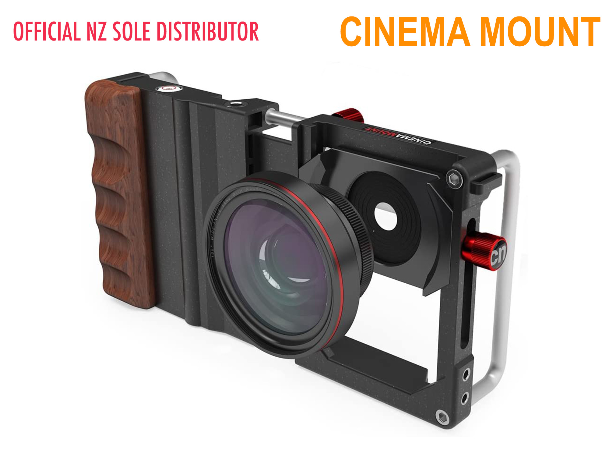 Cinema Mount for Smart Devices - Black / Wood