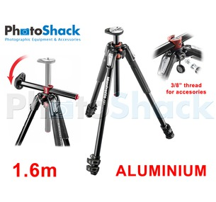 Manfrotto 1.6m 3 section Aluminium Tripod Legs with 90° Rotatable Centre Column