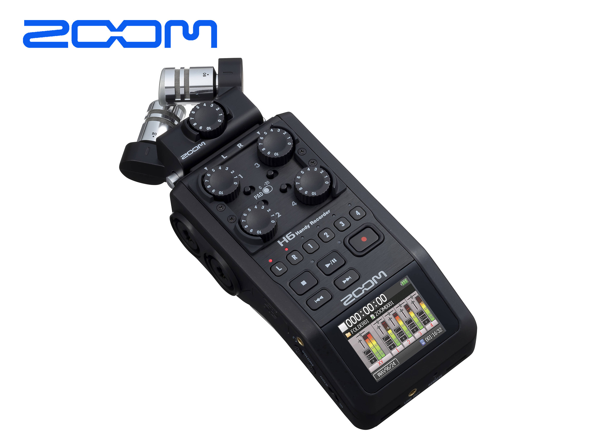 Zoom H6 BK Portable 6 Track recorder