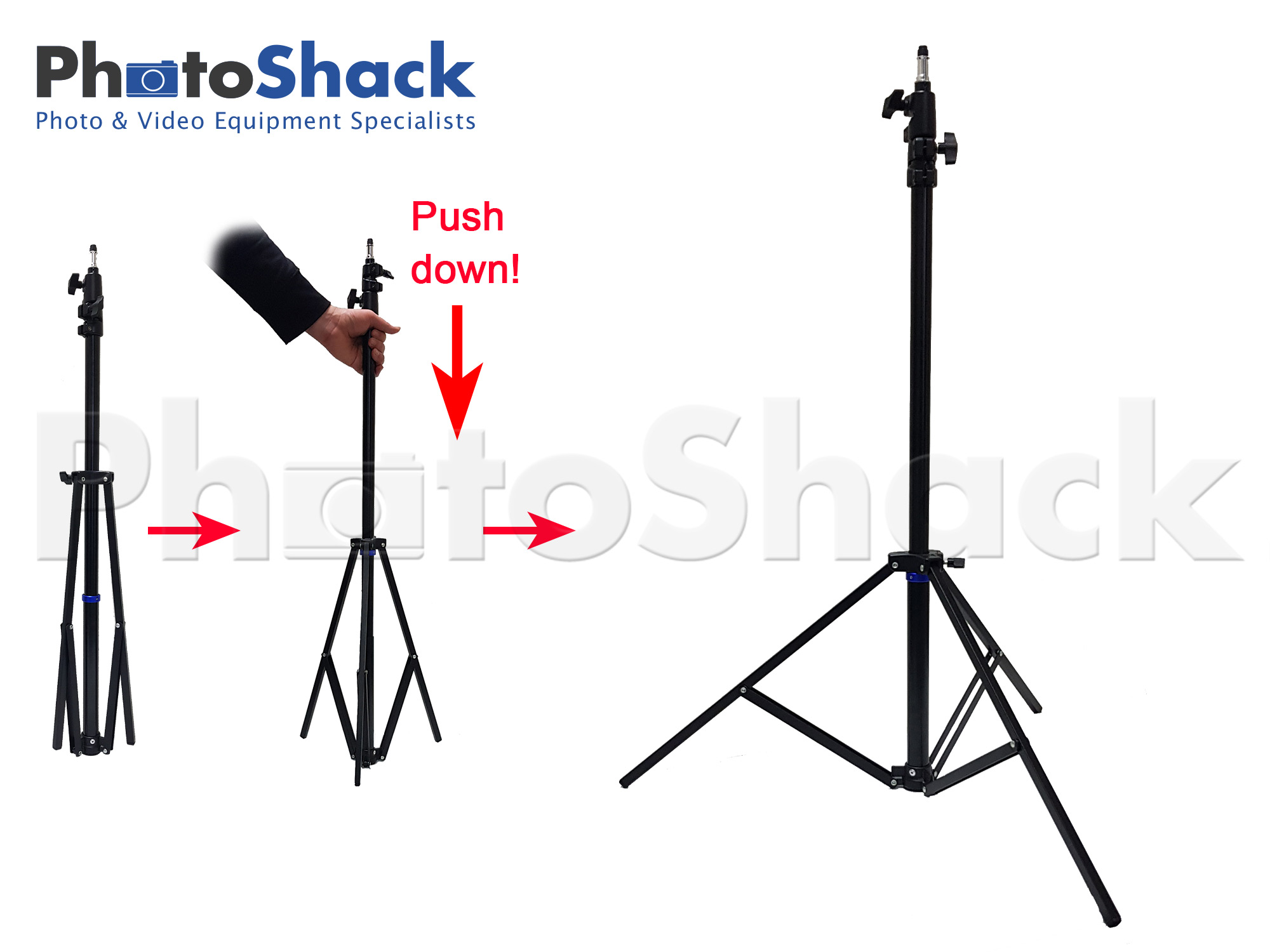 Compact Folding Light Stand 2.4m