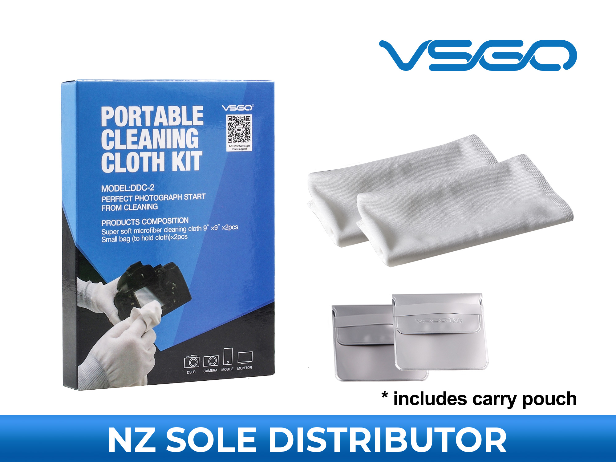 Camera Lens Cleaning Cloth - White - VSGO