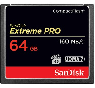 Sandisk CF Extreme Pro Memory Card - 64GB
