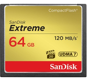 Sandisk CF Extreme Memory Card -  64GB