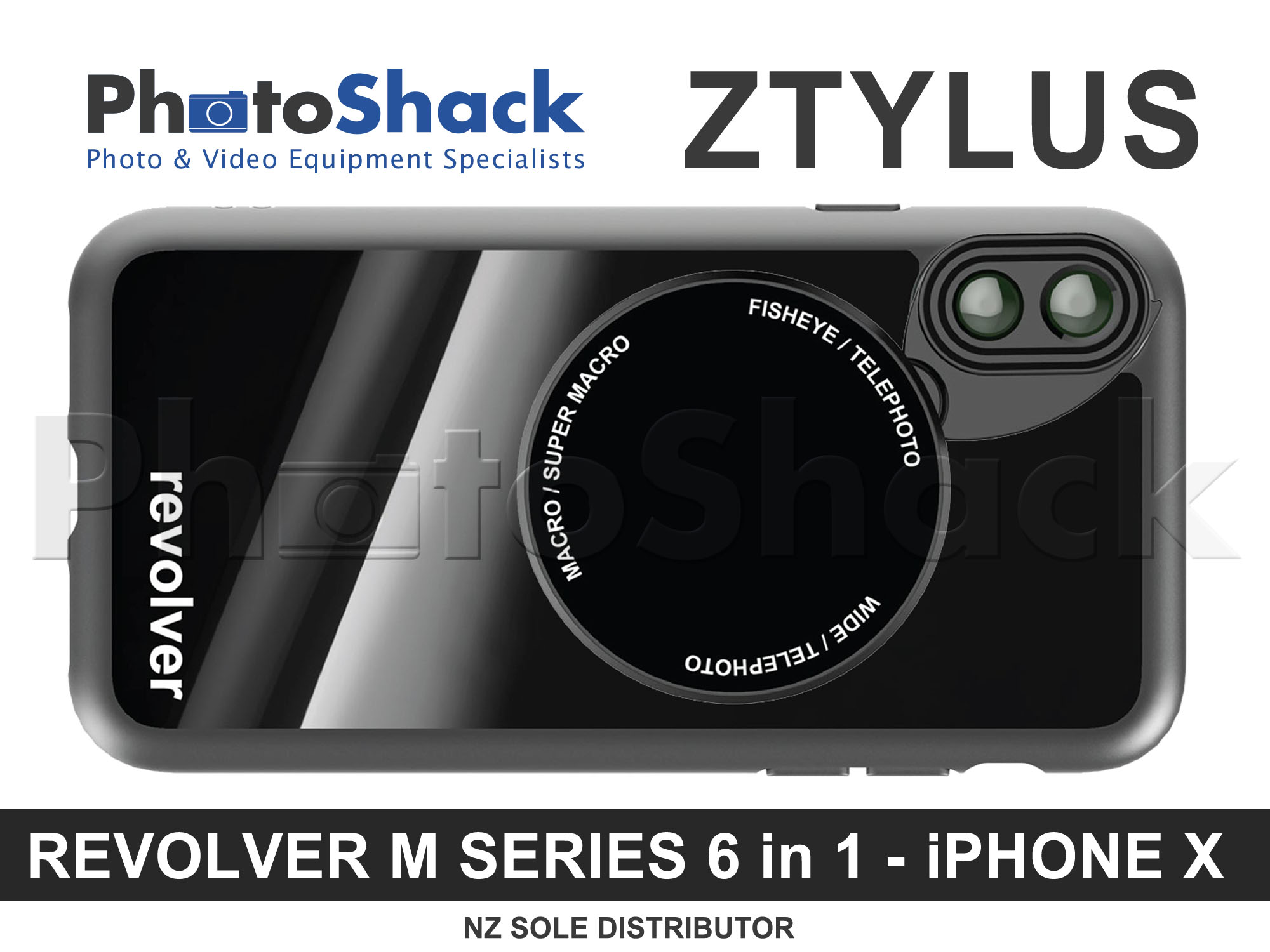 Ztylus Magnetic 6 in 1 Revolver Lens Kit for iPhone X