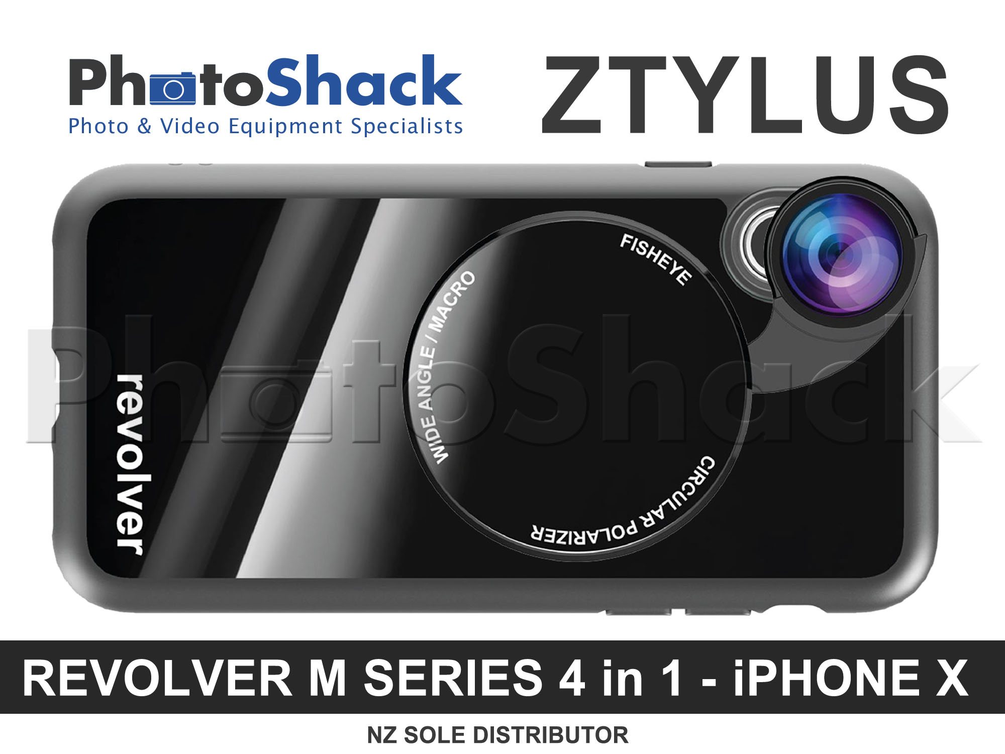 Ztylus Magnetic 4 in 1 Revolver Lens Kit for iPhone X