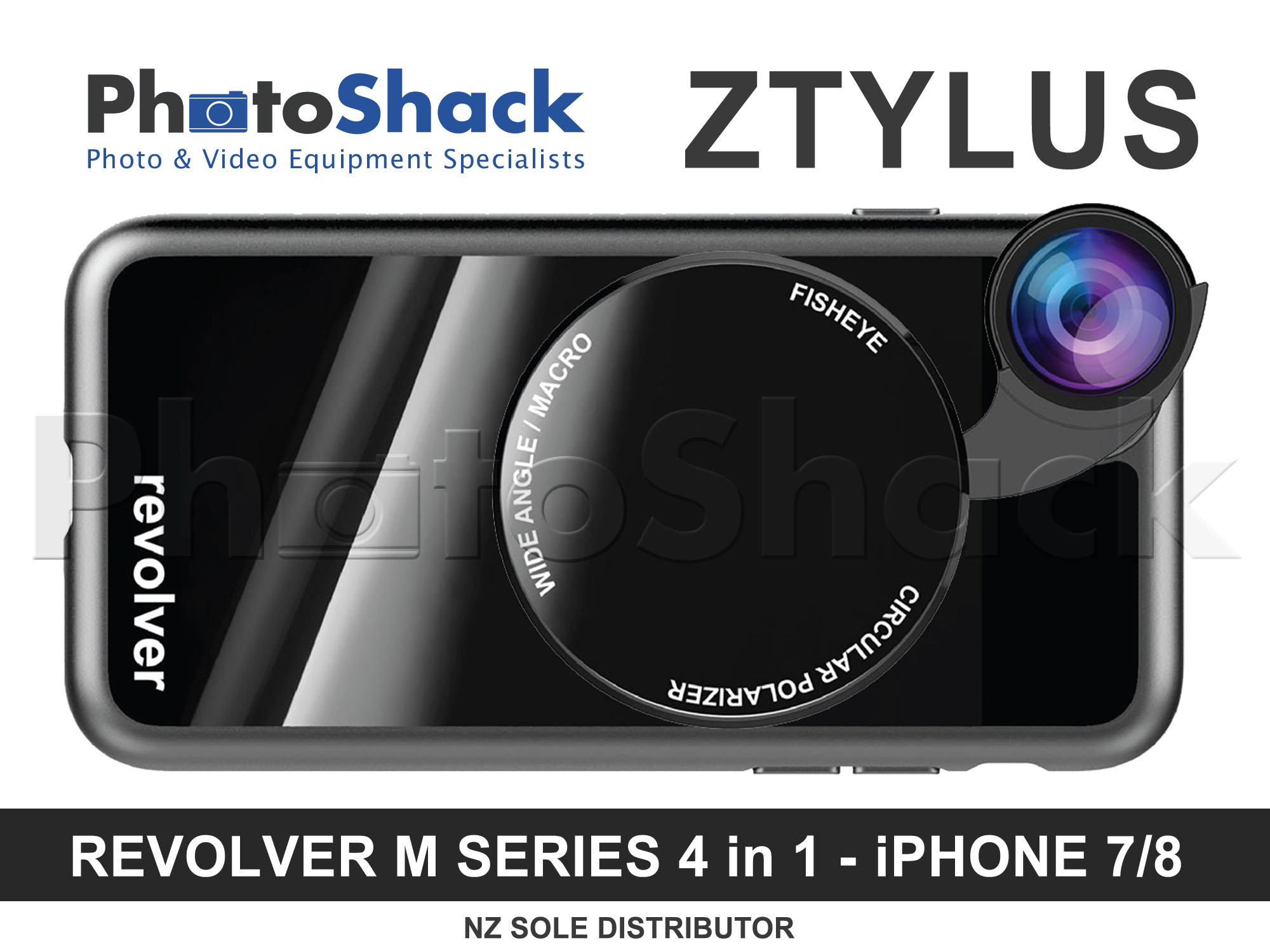 Ztylus Magnetic 4 in 1 Revolver Lens Kit for iPhone 8/7