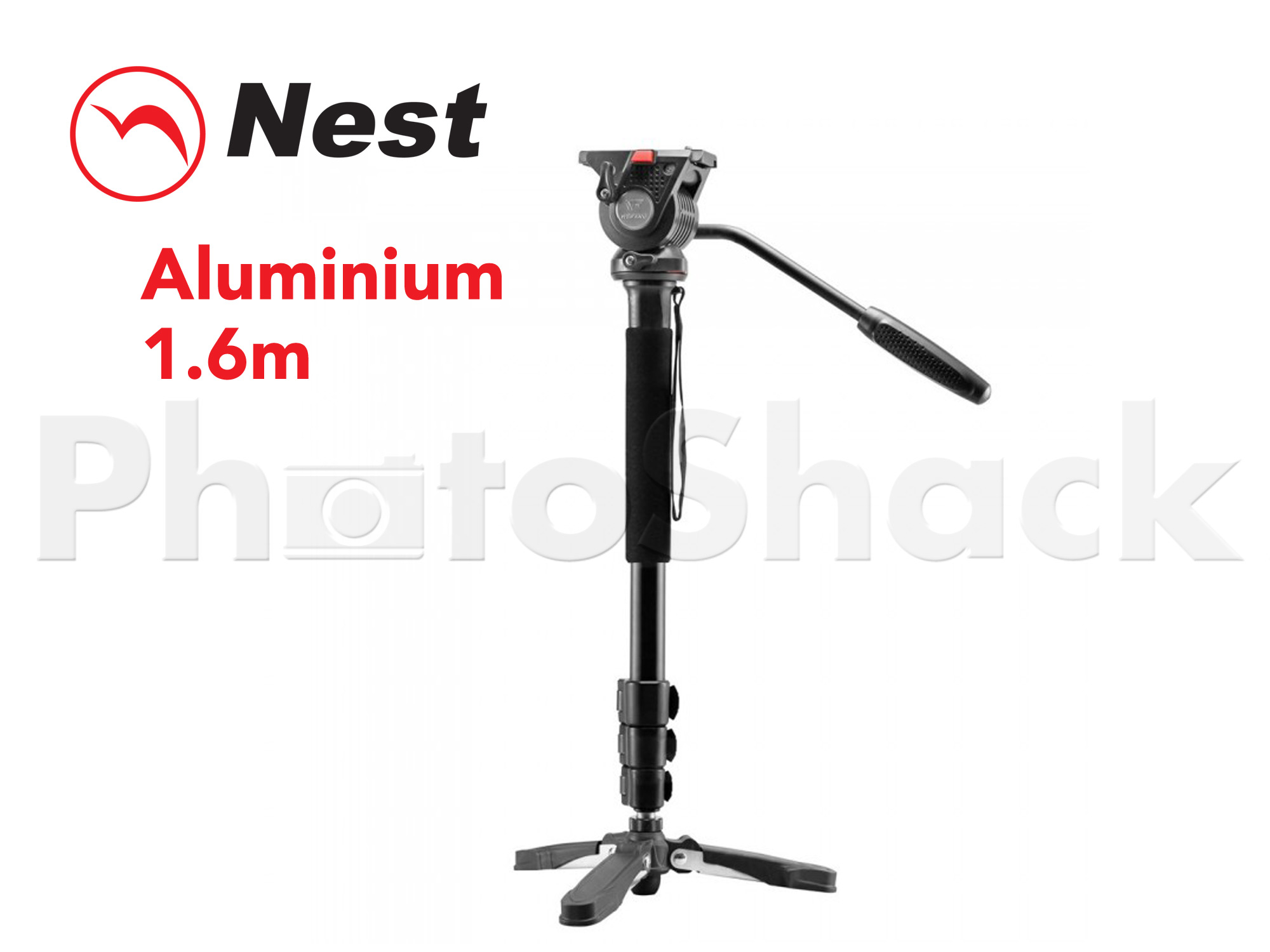 Nest Video Monopod - 1.6m Aluminium 5kg pay load (Arca)