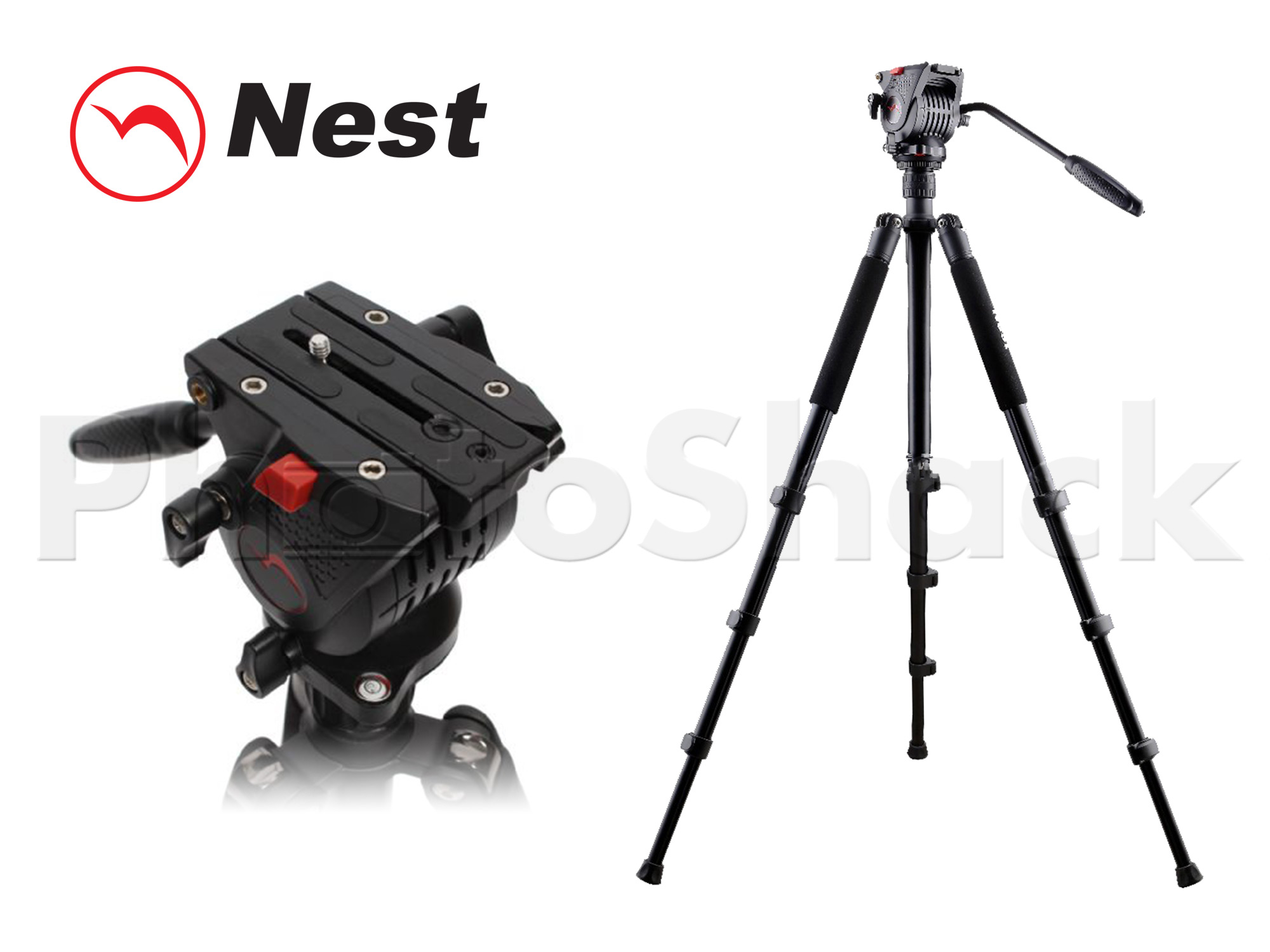 Nest NT-767 1.7m Video Tripod & Head