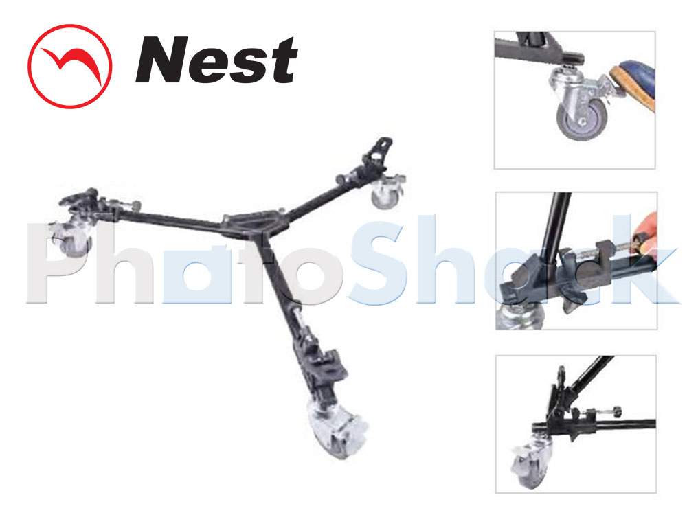 NEST NT-701 Video Tripod Dolly Aluminium