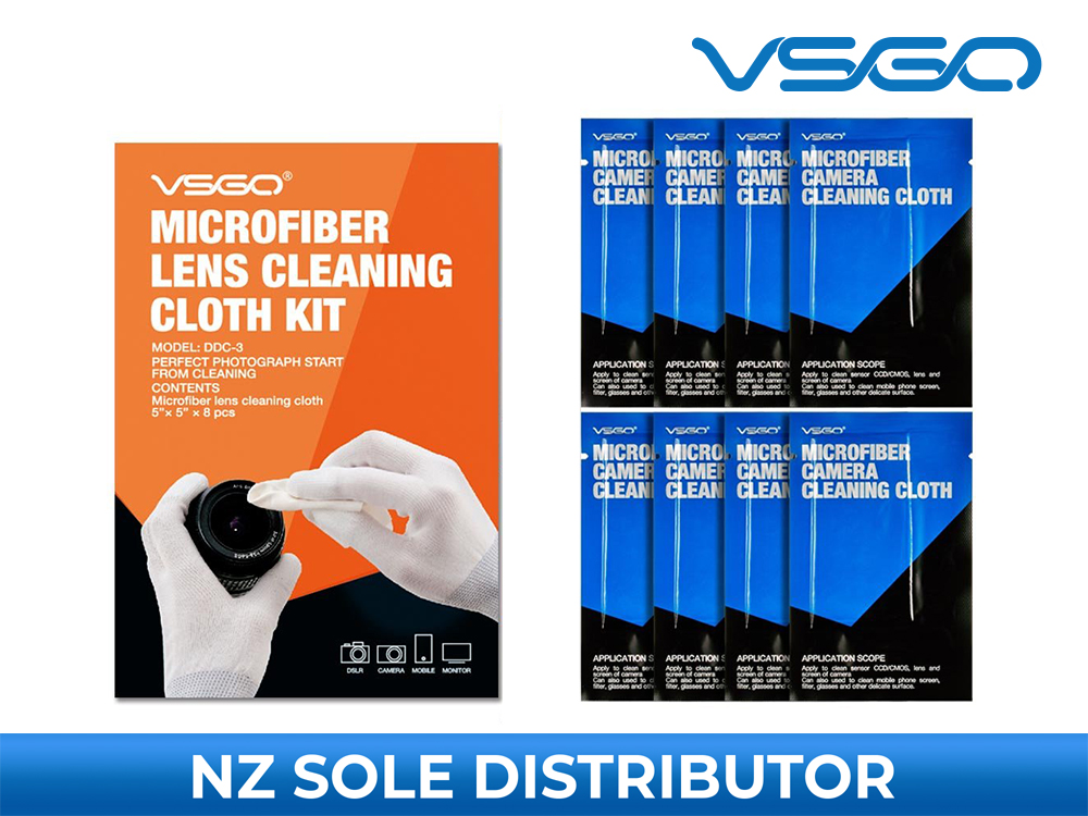 Microfiber Lens Cleaning Cloth Set - VSGO