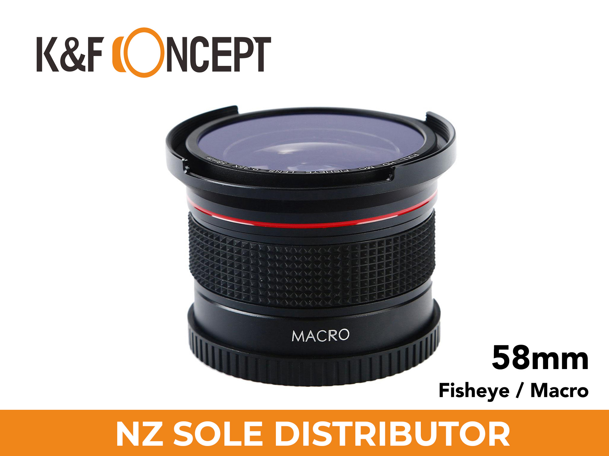 0.35X HD Fisheye Adapter Lens for 58mm Lenses  - K&F Concept