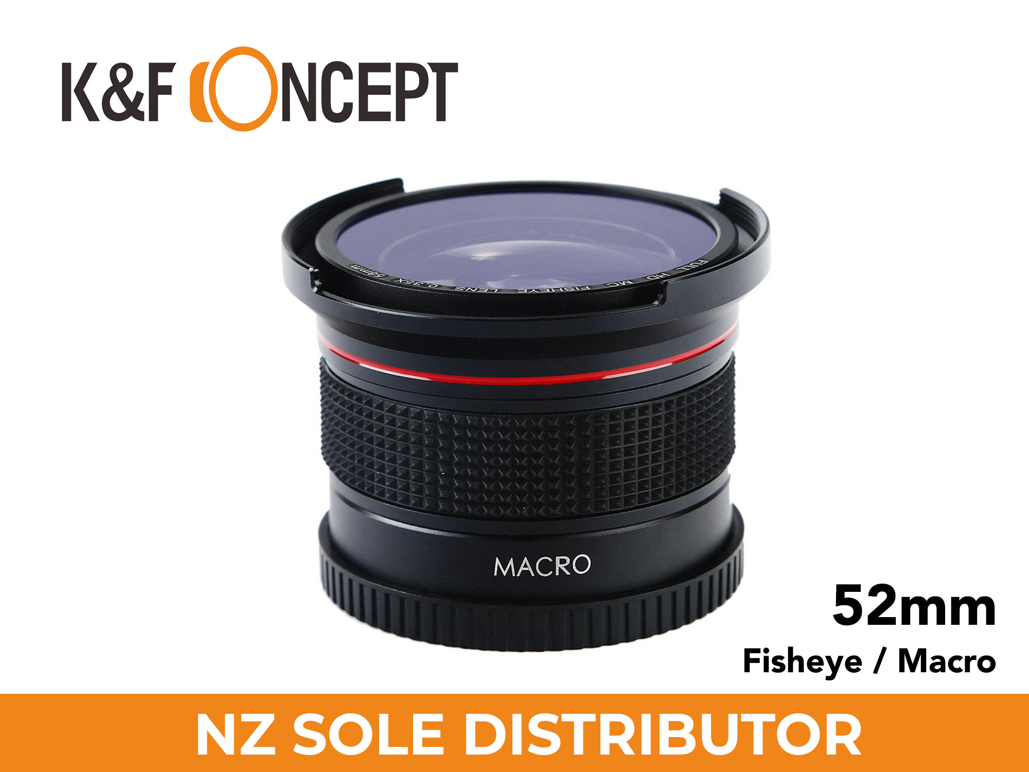 0.35X HD Fisheye Adapter Lens for 52mm lenses - K&F Concept