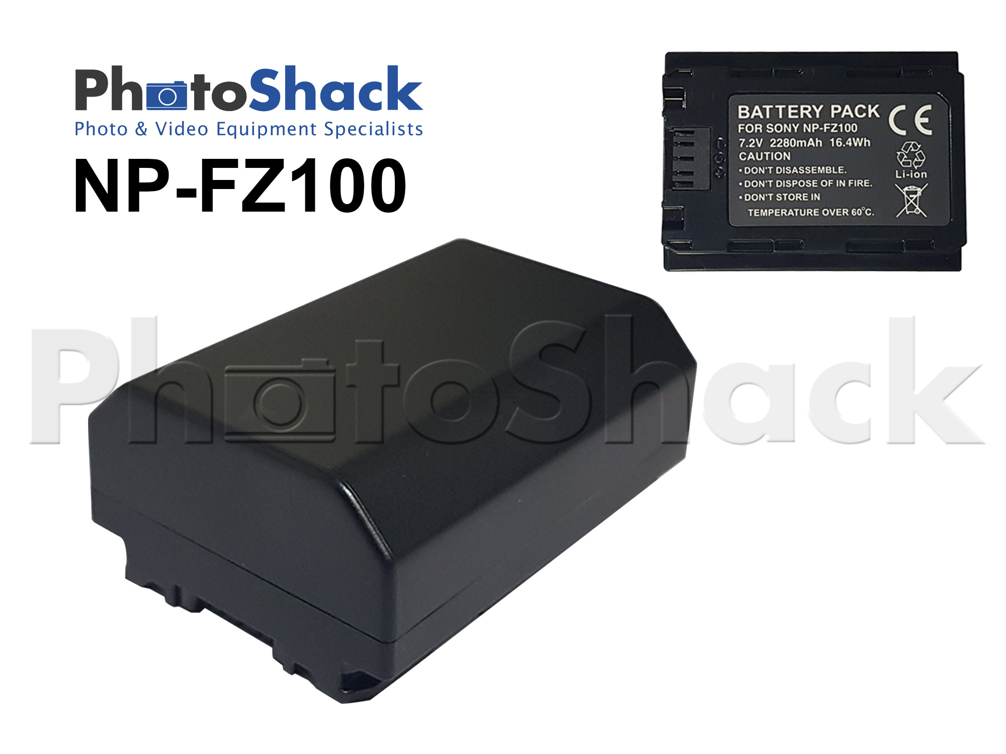 NPFZ100 Battery for Sony A9, Sony A7III
