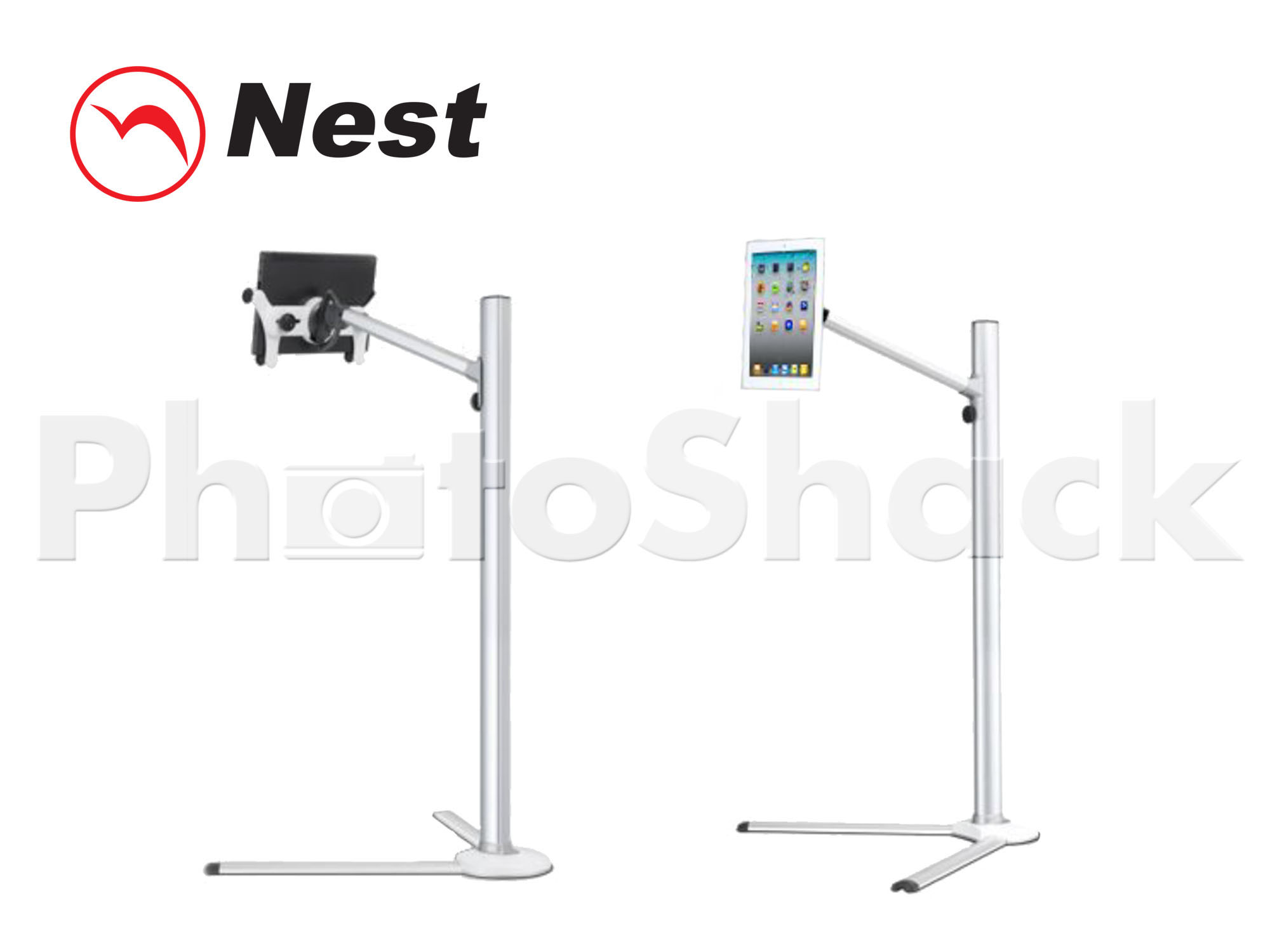 iPad & Tablet Floor Stand 31-95cm - SILVER