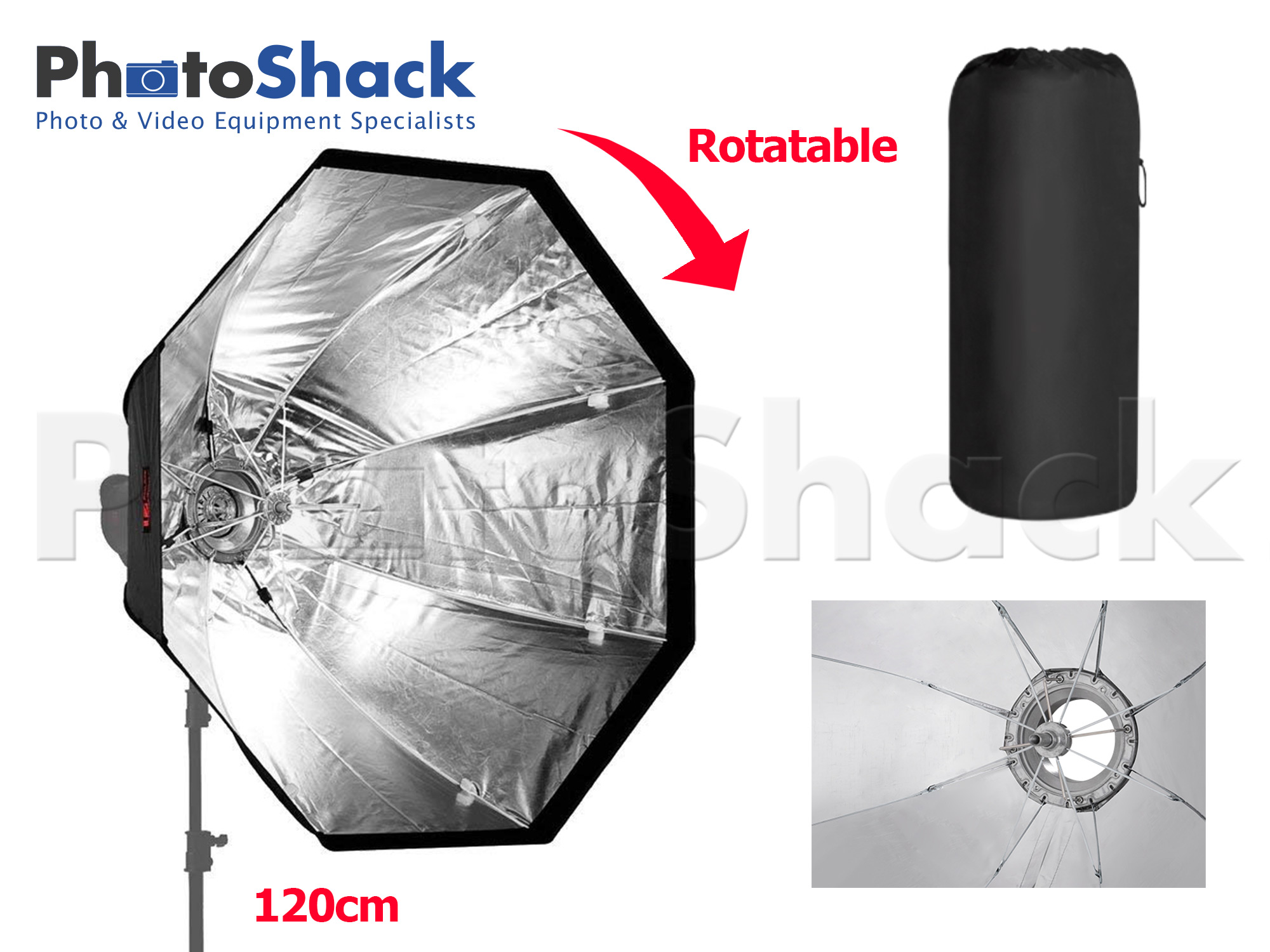 Portable Folding Softbox - Octagonal 120cm