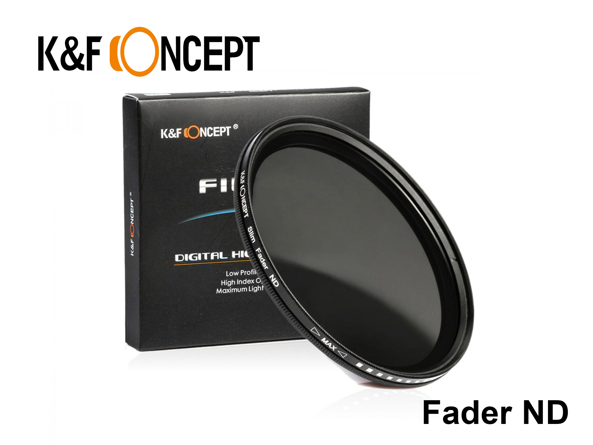 KNDX82 - Variable ND Fader Filter ND2-ND400 82mm
