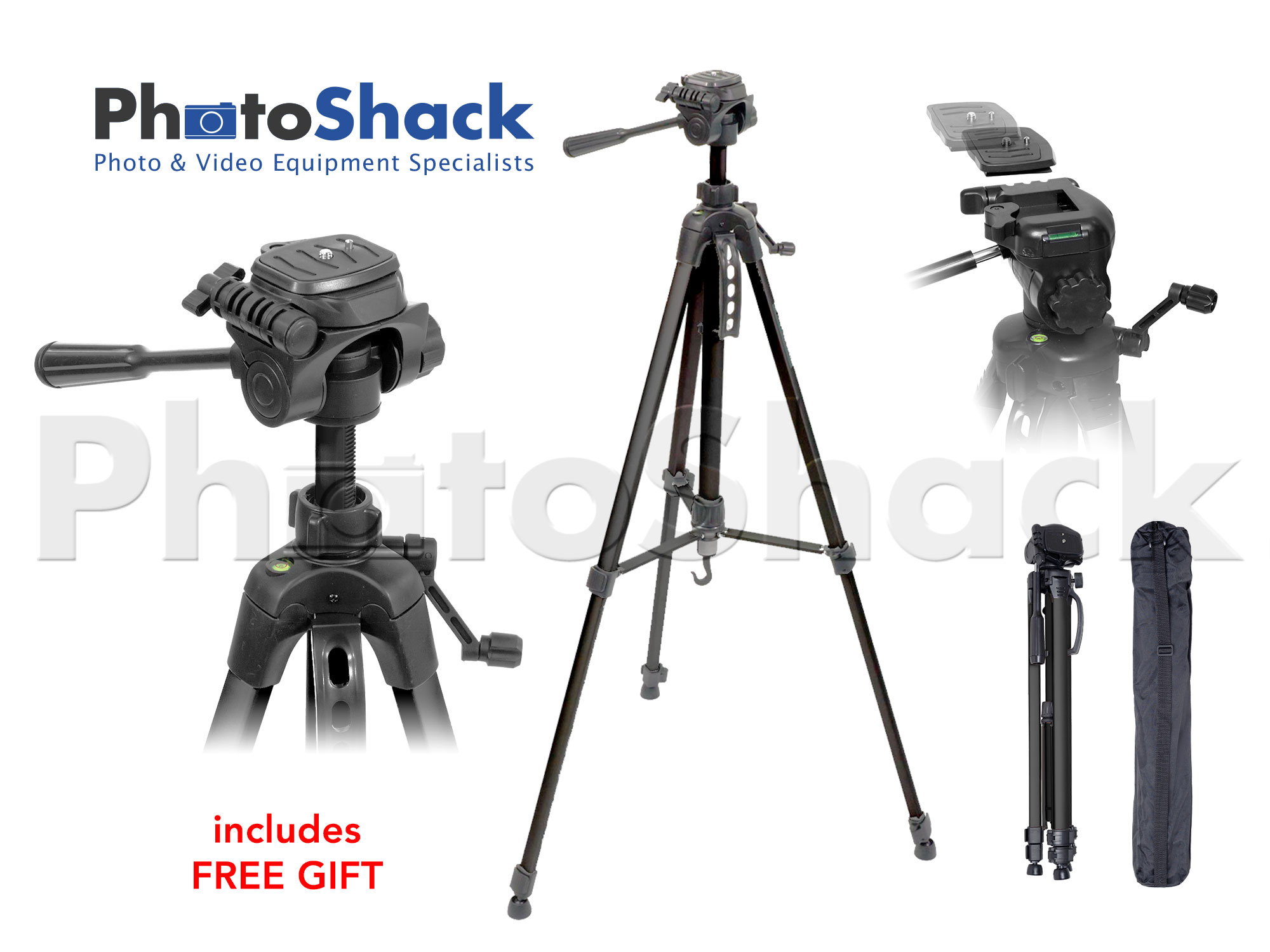 TRIPOD PHOTO/VIDEO 1.6m + FREE GIFT