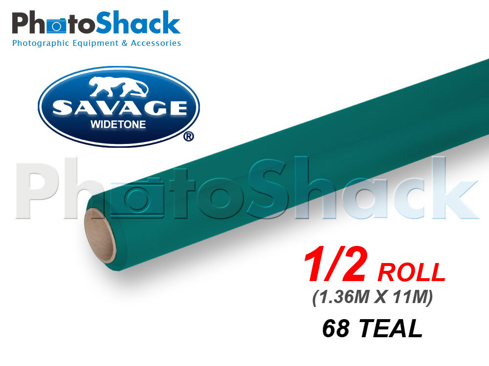 SAVAGE Paper Background Half Roll - 68 Teal