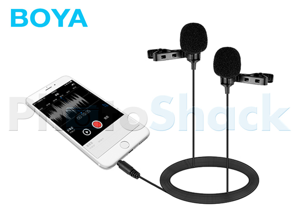 Boya BY-LM400 Dual Lavalier Microphone for Smartphones
