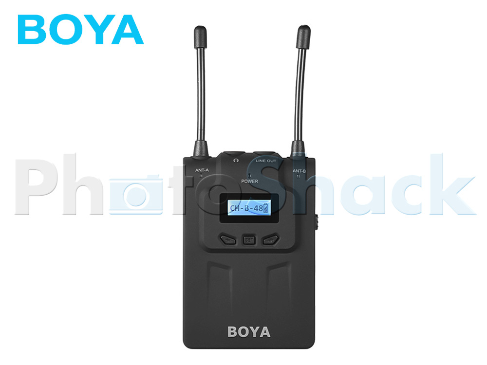 Boya BY-WM8R Professional UHF Dual-Channel Wireless Receiver