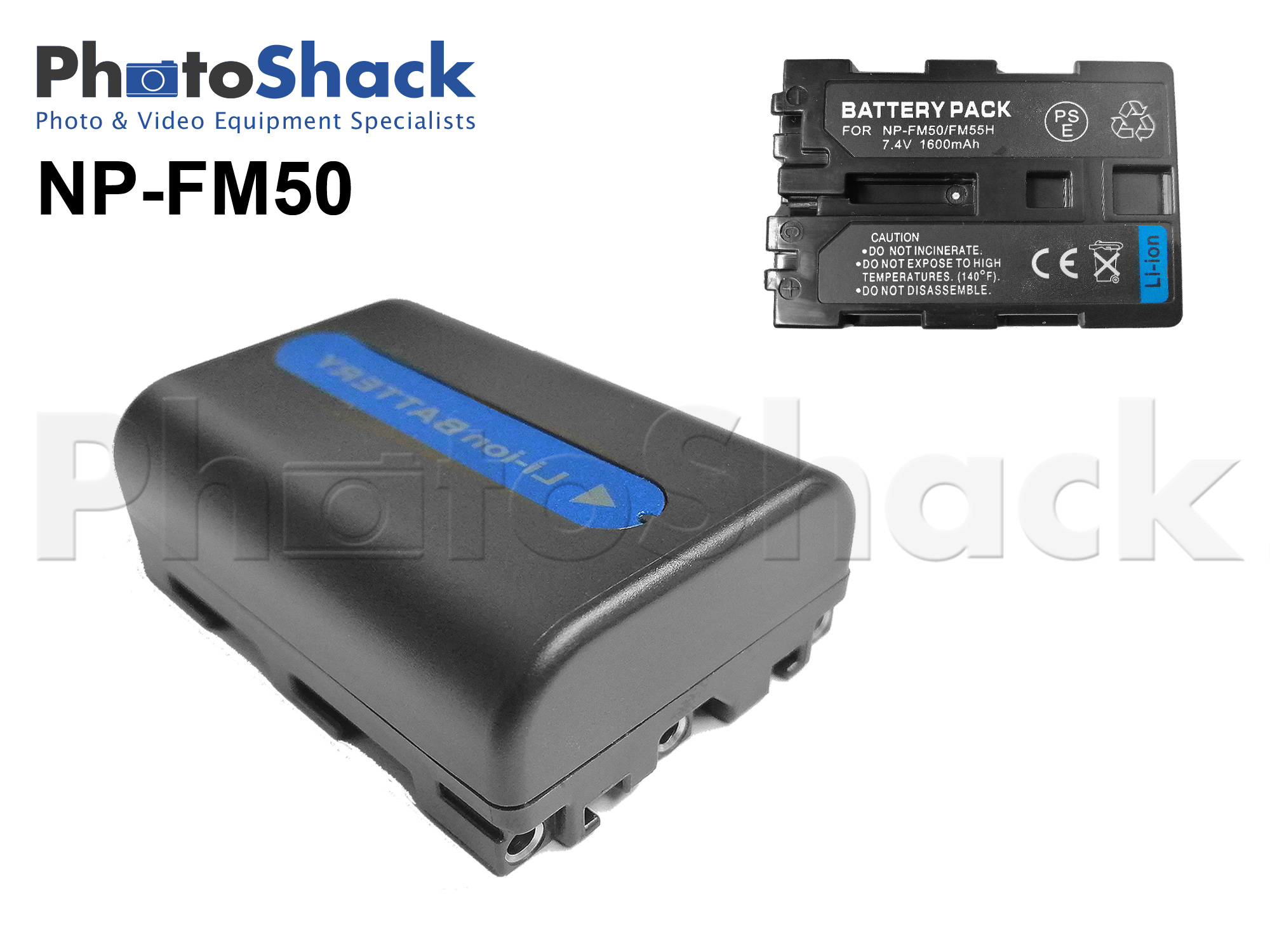 NPFM50 Rechargeable Battery for Sony