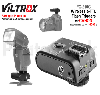 Wireless TTL Flash Triggers for CANON - High Speed - Viltrox FC-210C