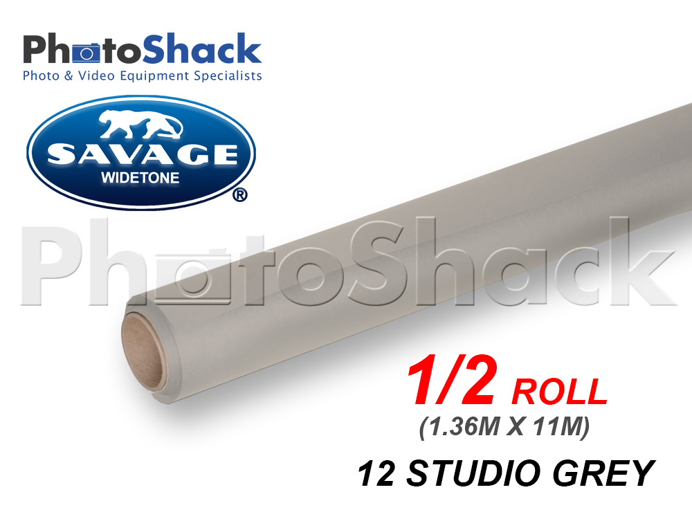 SAVAGE Paper Background Half Roll - 12 Studio Grey