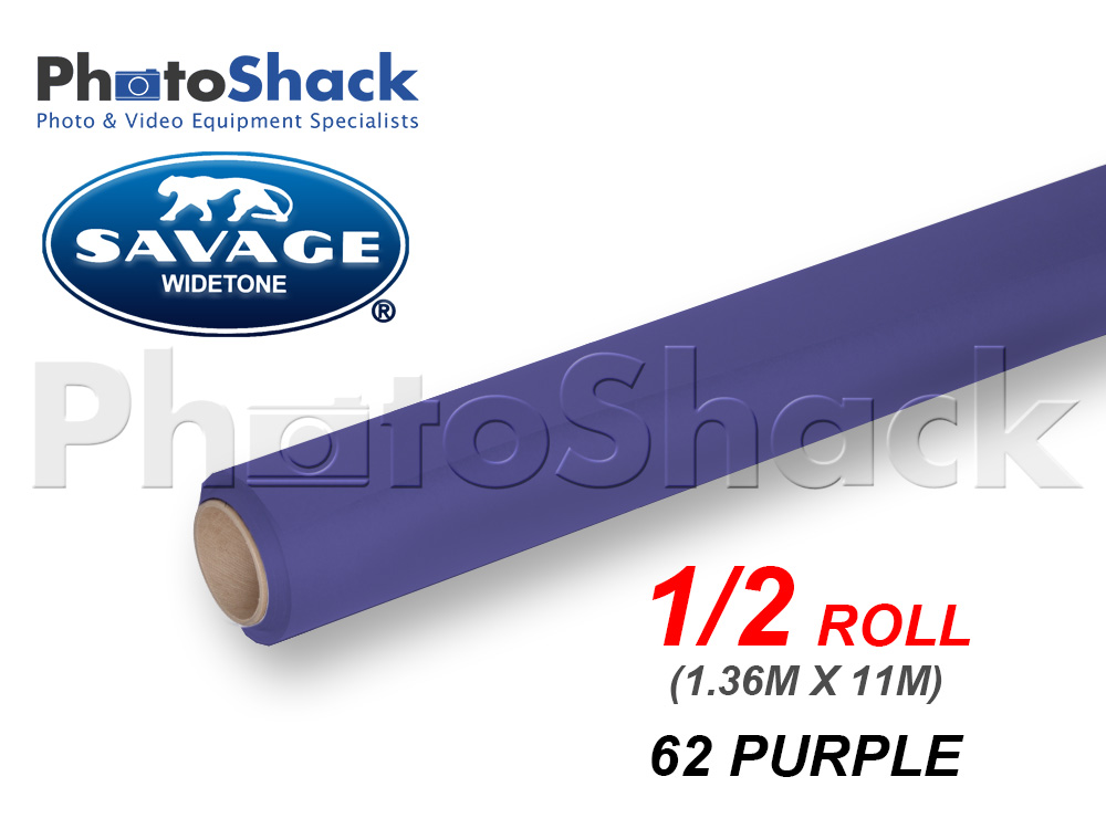 SAVAGE Paper Background Half Roll - 62 Purple